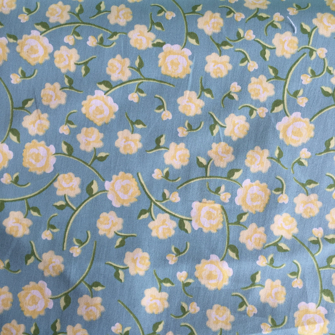 Persnickety Teal Floral - Poplin