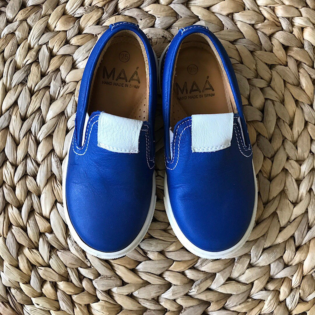 MAA - Leather Slip-on Sneaker - Blue - size 8.5