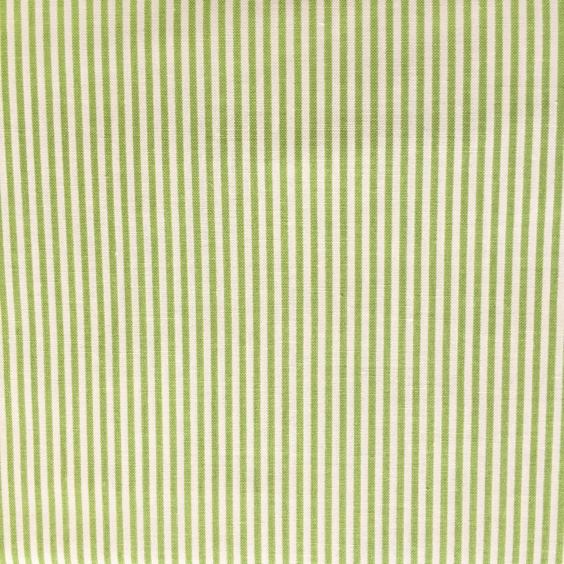 Green & Cream Mini Stripe