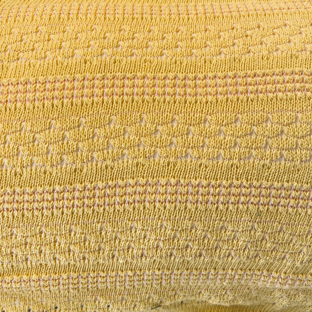 Yellow Knitted Sweater Fabric