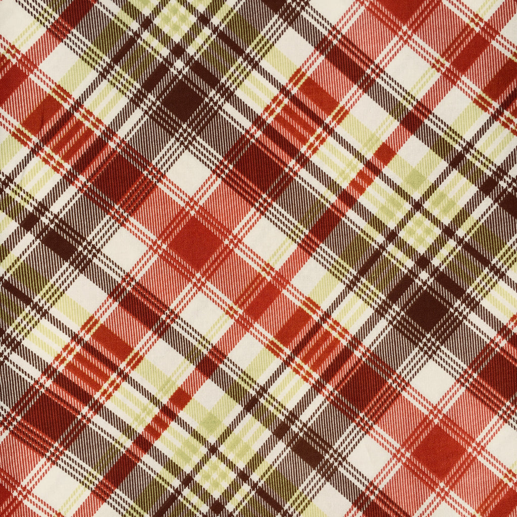 Knit - Persnickety Tartan Plaid - Brown