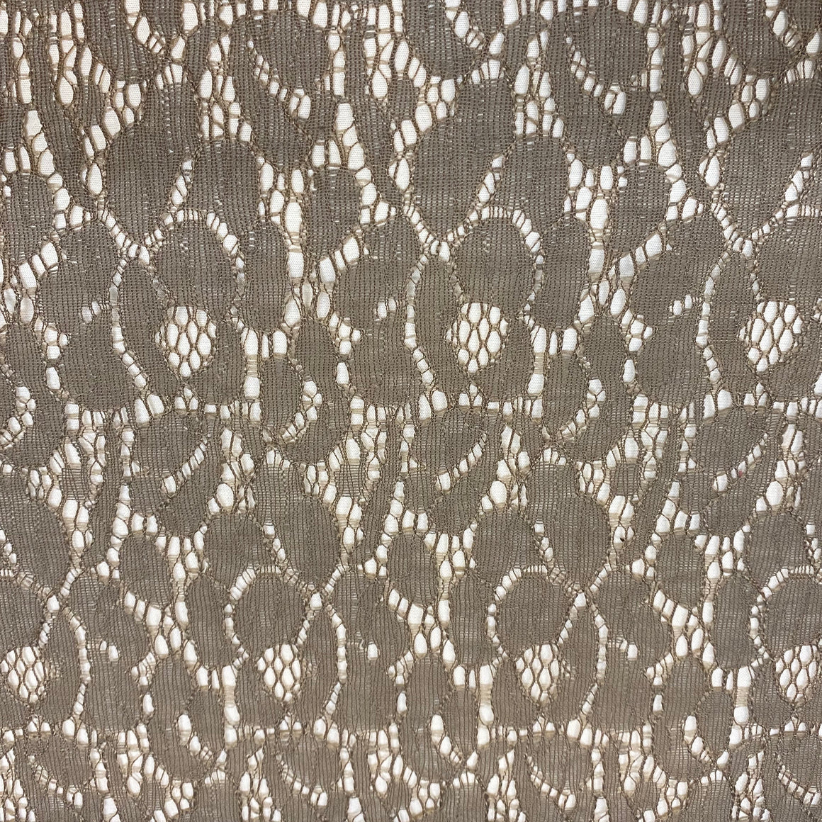 "Taupe Lace 60"" wide"