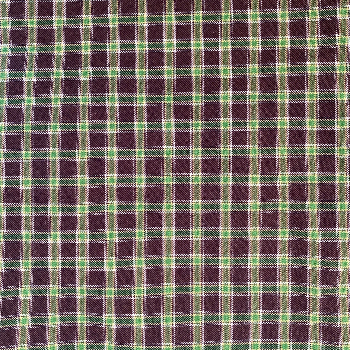 Green/Black Plaid Woven