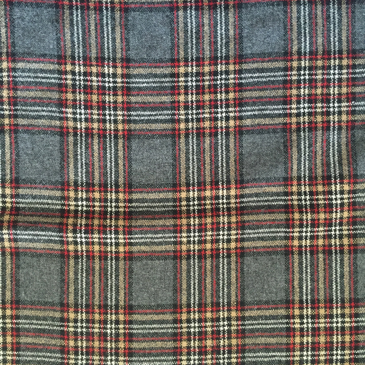 "Plaid Polyester/Wool Blend - 60"" Wide"
