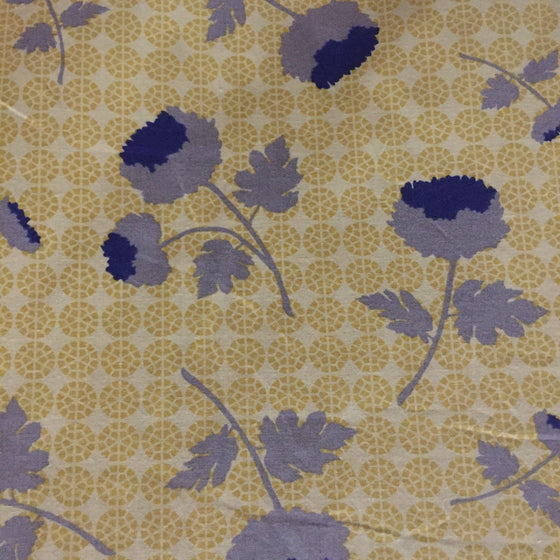 Gold Floral - Polpin Fabric