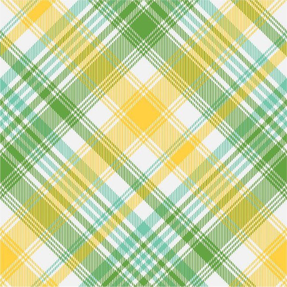 Turquoise Tartan Plaid - Poplin - 3 yard minimum (K)