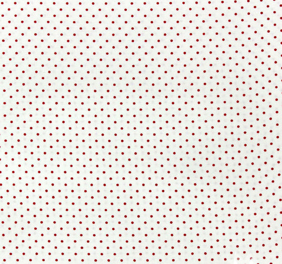 Moda Fabrics - Essential Dots -White Red