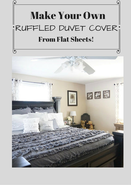 Ruffled Duvet Cover from sheets - A Tutorial