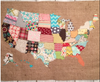 Make a fabric map using just scraps!