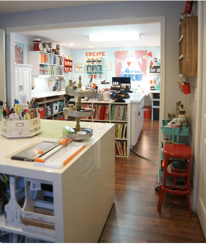 The little Green Bean Craft Room Tour
