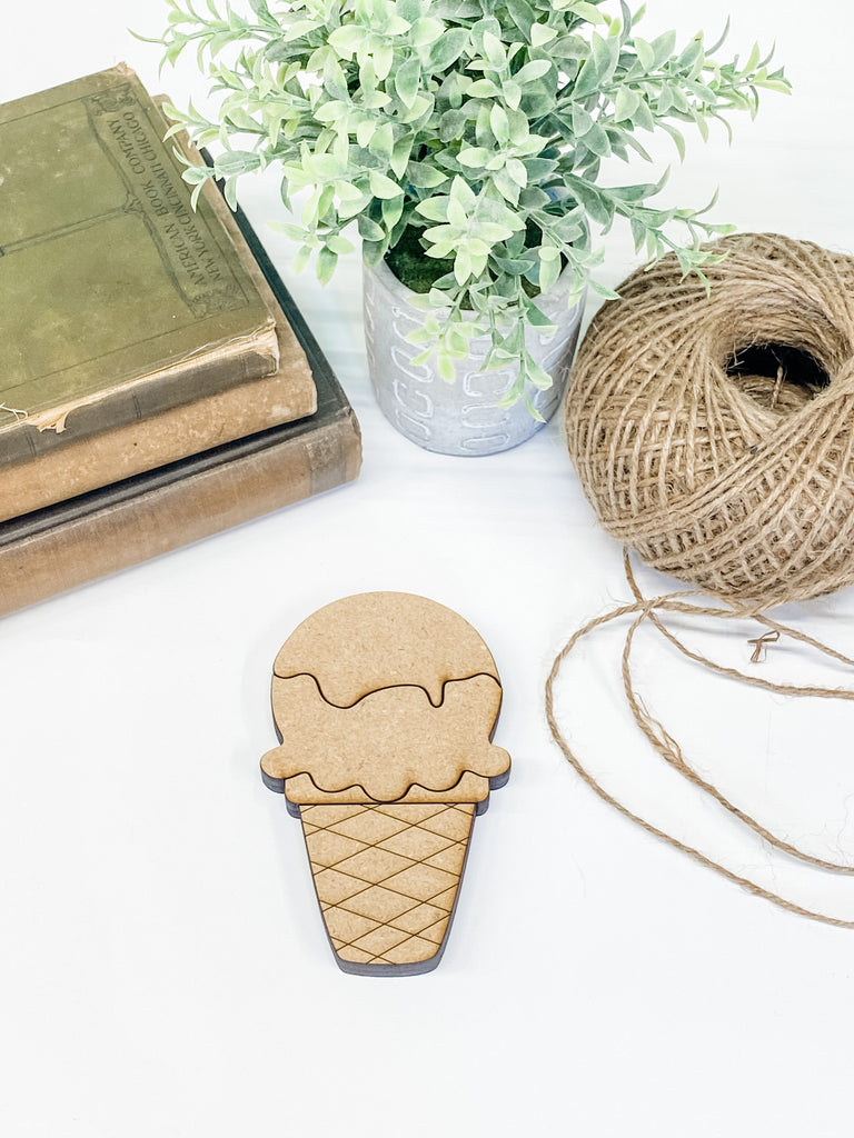 Ice Cream Cone | Interchangeable Pieces
