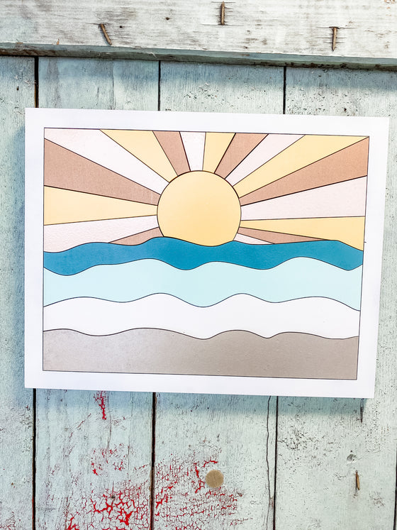 DIY Wall Art Kit | Sunshine w Waves