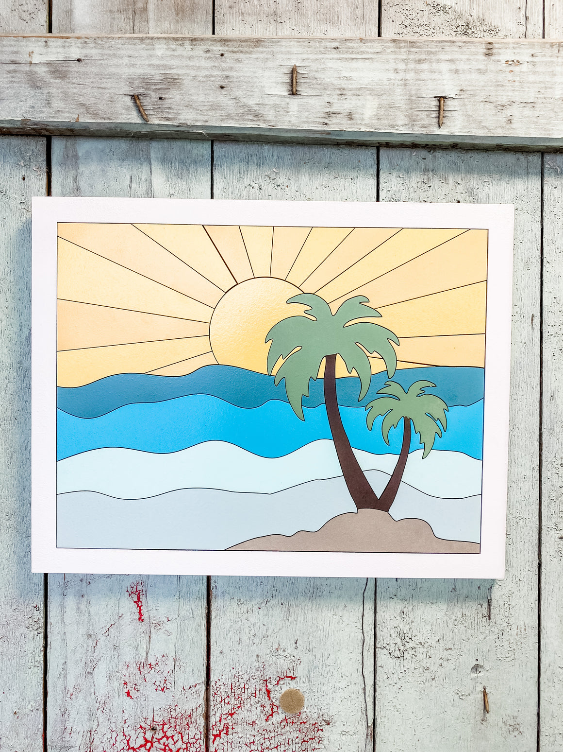 DIY Wall Art Kit | Sunshine w Palm Trees