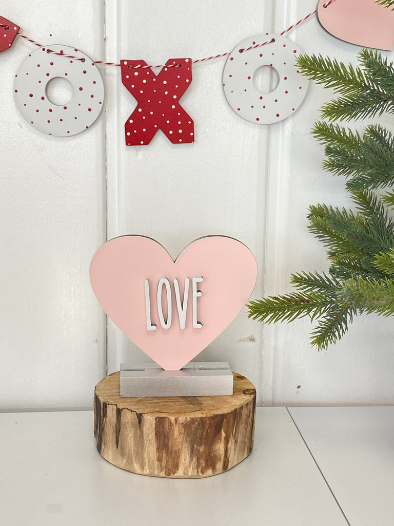 Valentines Day wood Items | Candy Heart w words