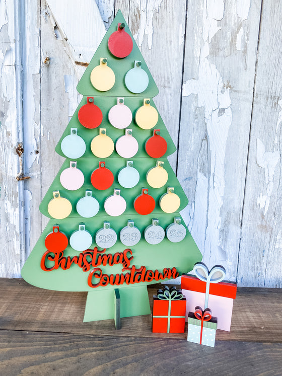 DIY Christmas Countdown Tree
