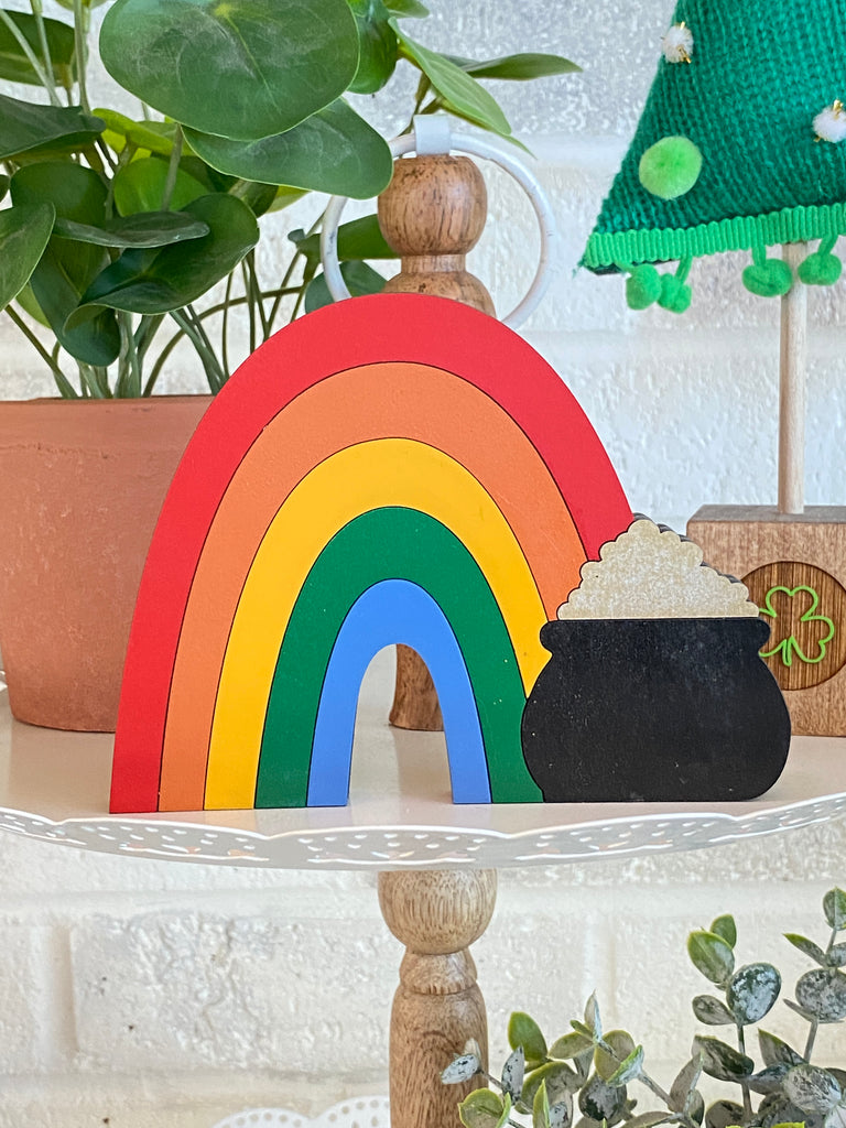 St Patricks DIY | Rainbow w Pot of Gold