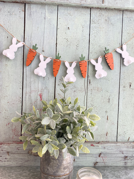 Easter DIY |Small Wood Bunny Banner