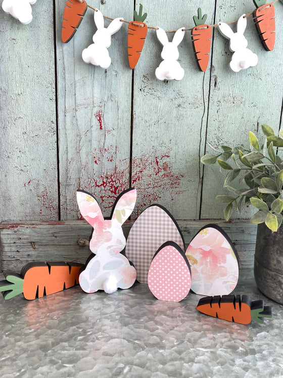 Easter DIY |Bunny, Eggs & Carrots Set of 6
