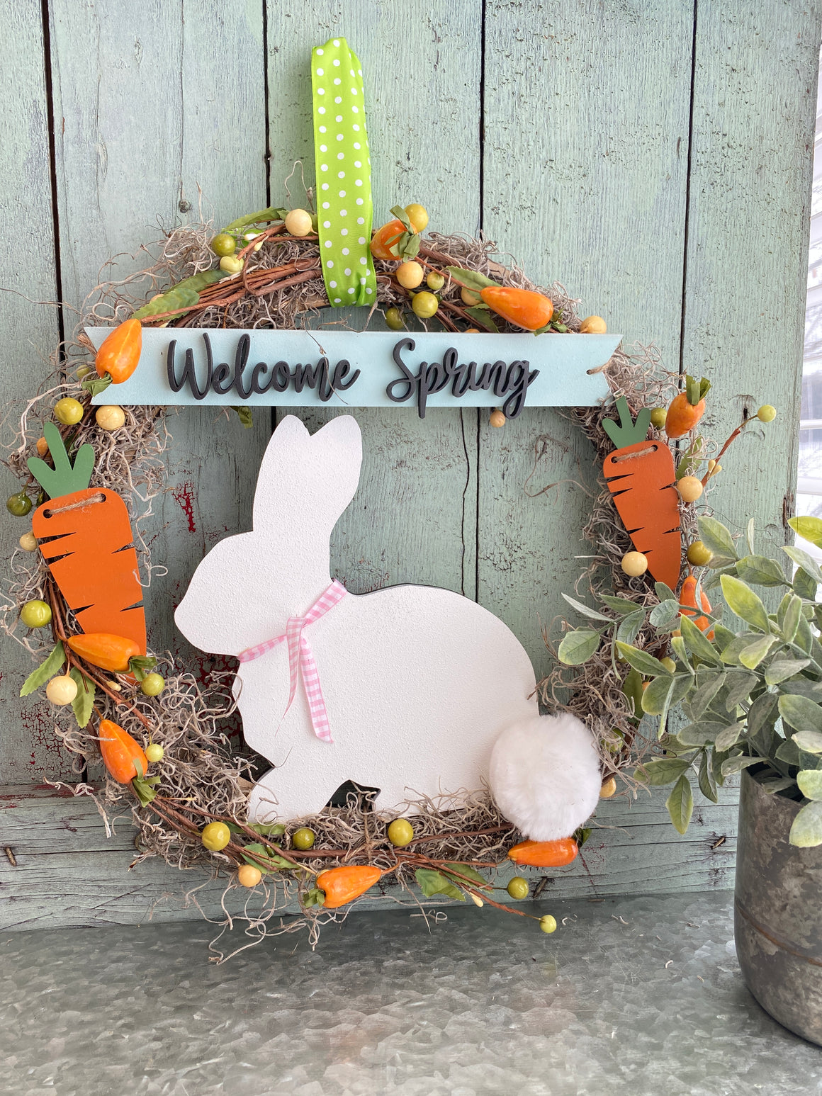 Easter DIY | Easter Bunny w Wood Wreath form