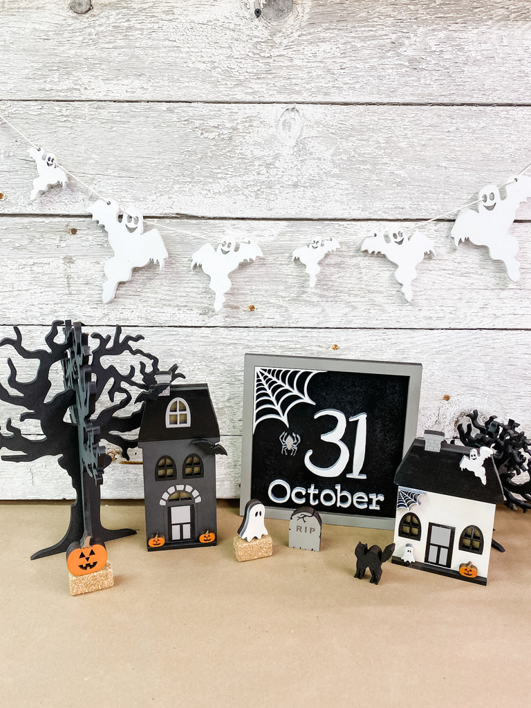 Halloween DIY Kits | Ghost Garland-Unfinished