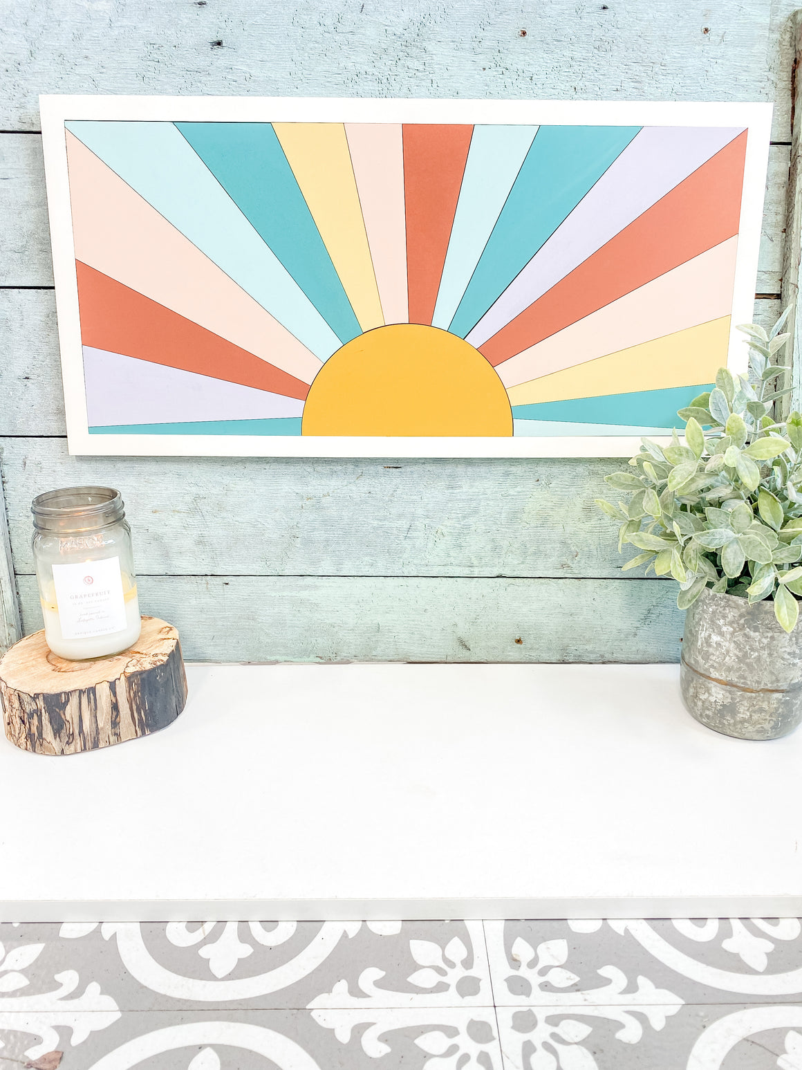 DIY Wall Art Kit | Sunset | Vertical