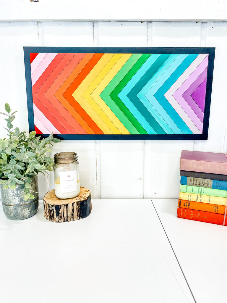 DIY Wall Art Kit | Chevron Stripes