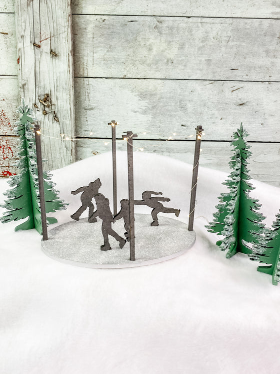 Christmas DIY Kits| Christmas Village | Skating Rink w Lights