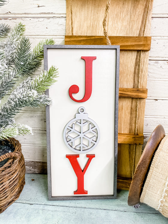 Christmas DIY Kits| Joy Leaner Sign