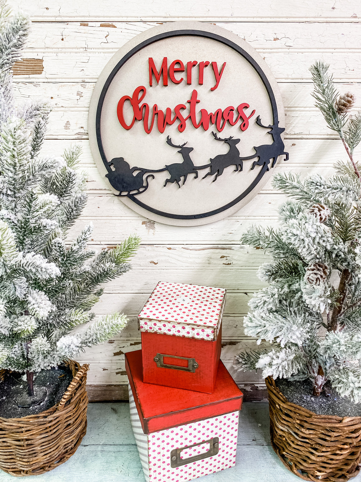 Christmas DIY Kits| Merry Christmas Santa Silhouette Sign