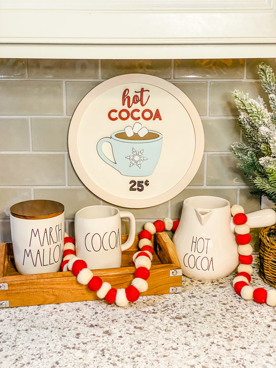 Christmas DIY Kits| Hot Cocoa Sign