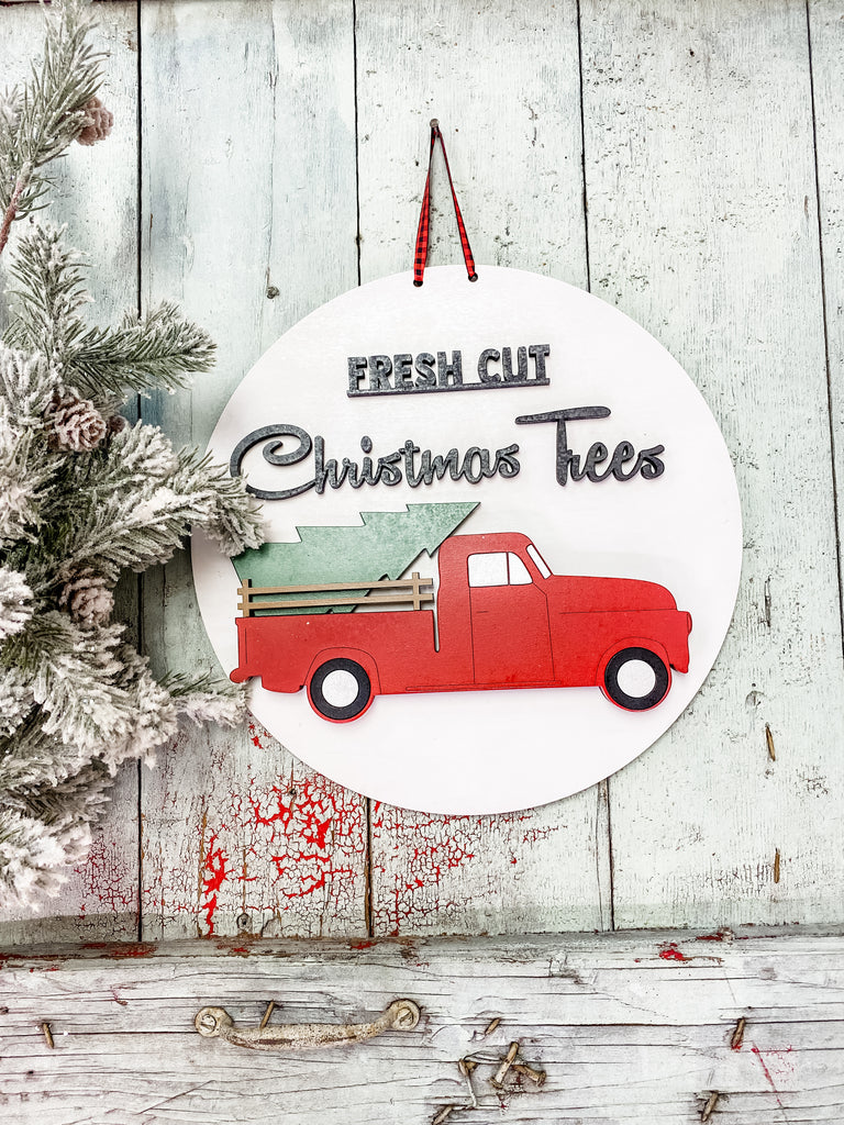 Christmas DIY Kits| Vintage Christmas Truck Sign