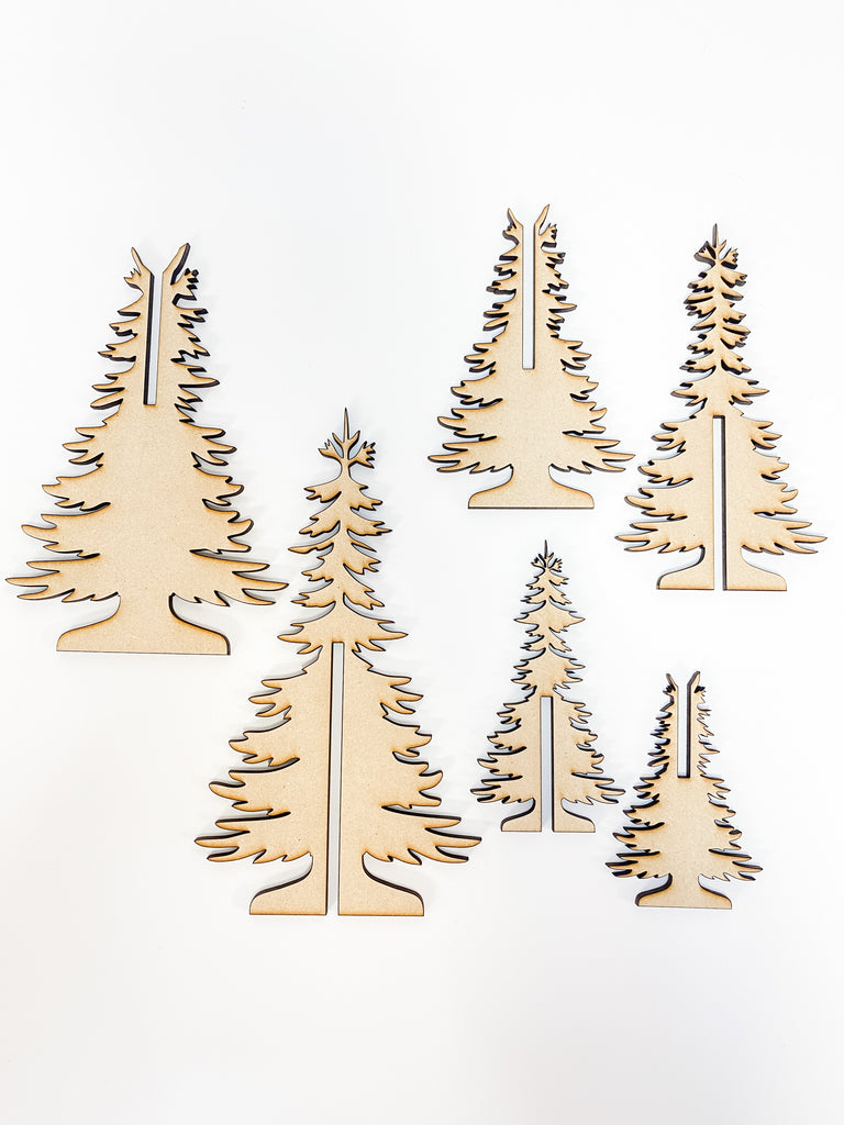 Christmas DIY Kits | Pine Trees-Unfinished