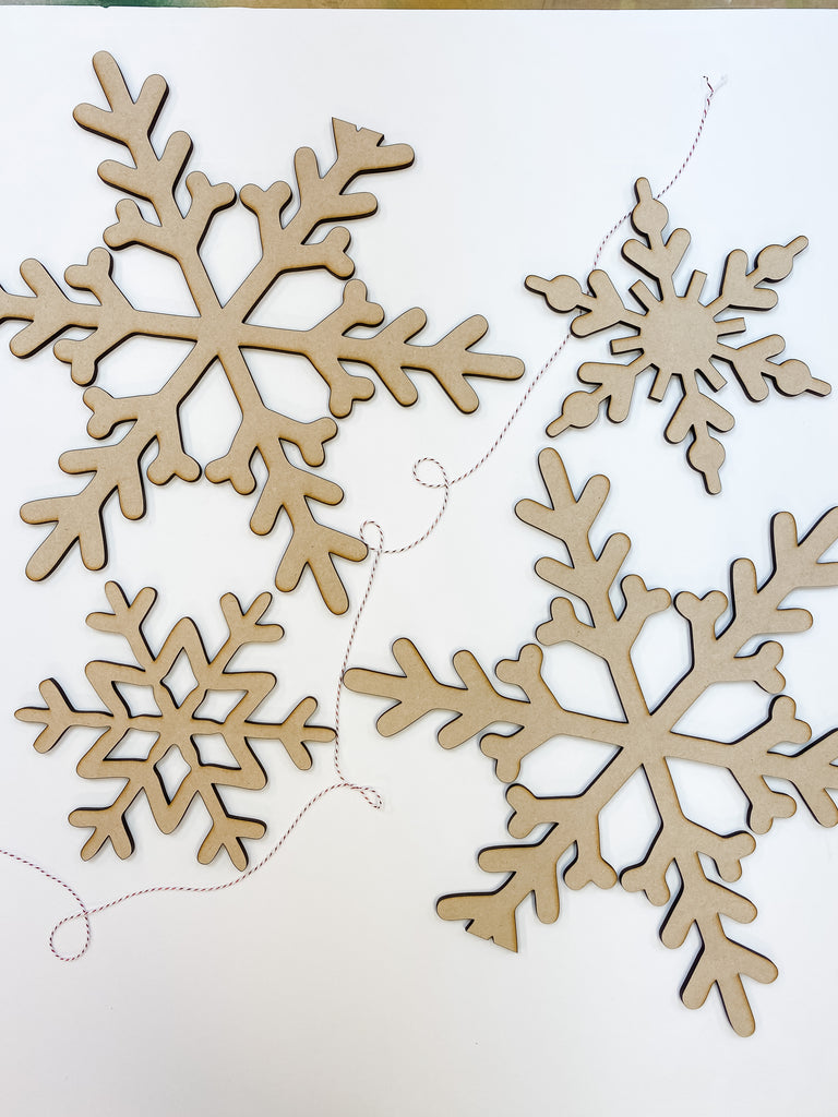 Christmas DIY Kit | Snowflake Set of 4