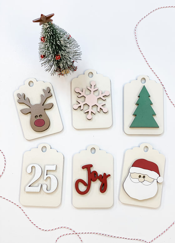 Christmas DIY Kit | Christmas Tags set of 6