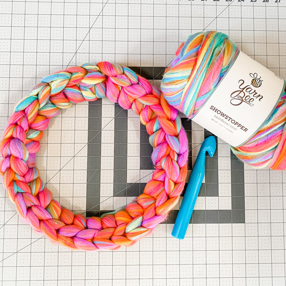 DIY Wreath Kit | Crochet Rainbow Wreath