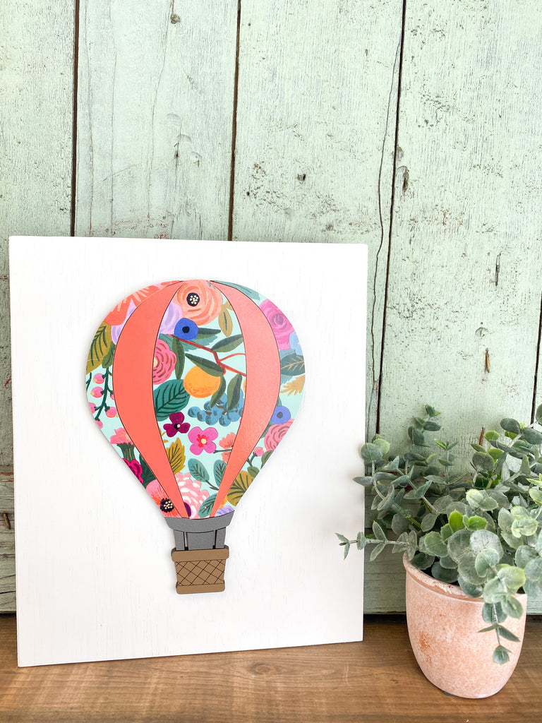 DIY Kits | Hot Air Balloon w engraved backer board