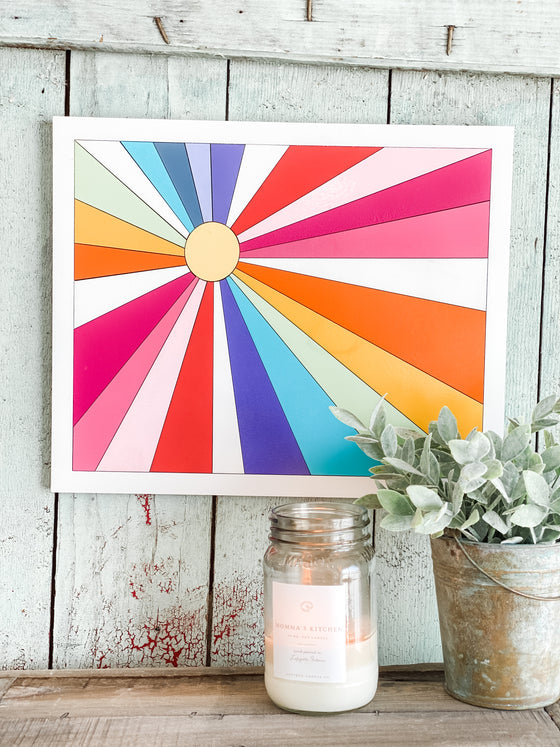 DIY Wall Art Kit | Sunburst w Framed Border