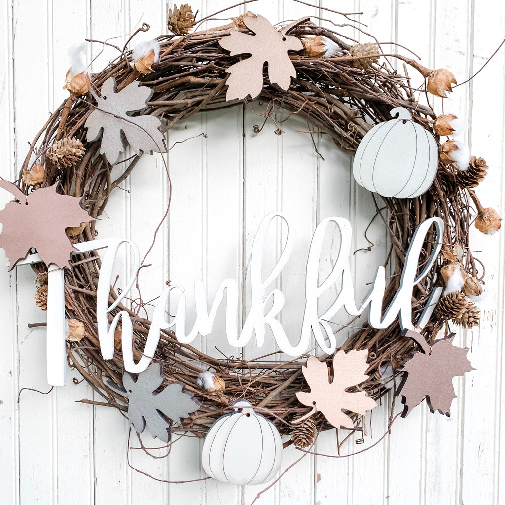 DIY Wreath Kit | Thankful Wreath