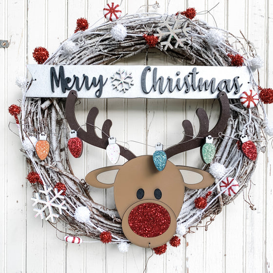 DIY Wreath Kit | Christmas Reindeer Wreath