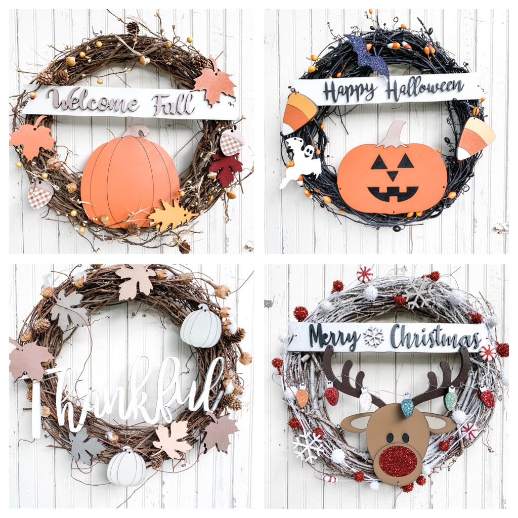DIY Wreath Kit | Happy Holidays Bundle