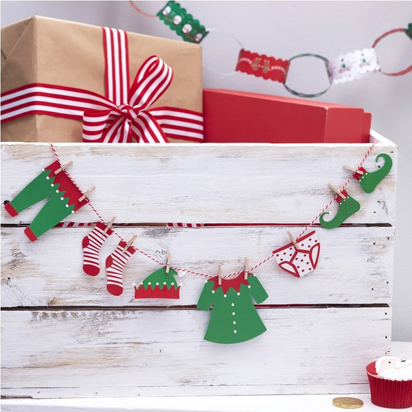 Elf Washing Line Bunting - The Magic Door Store
