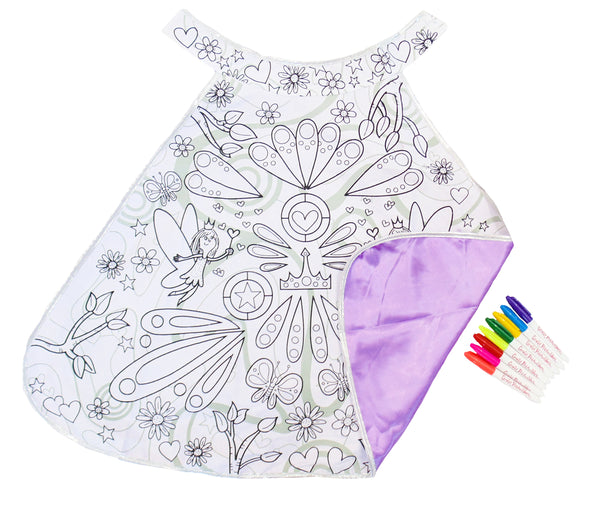 Colour In Fairy Cape - The Magic Door Store
