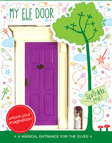 My Purple Elf Door - The Magic Door Store - 1