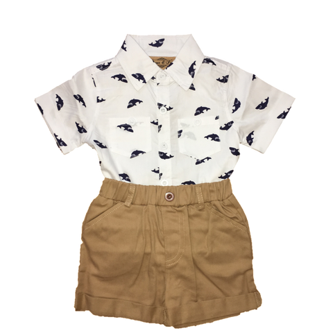 Printed Shirt and Shorts
