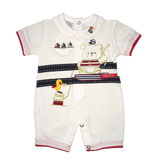 Baby Boy White Romper