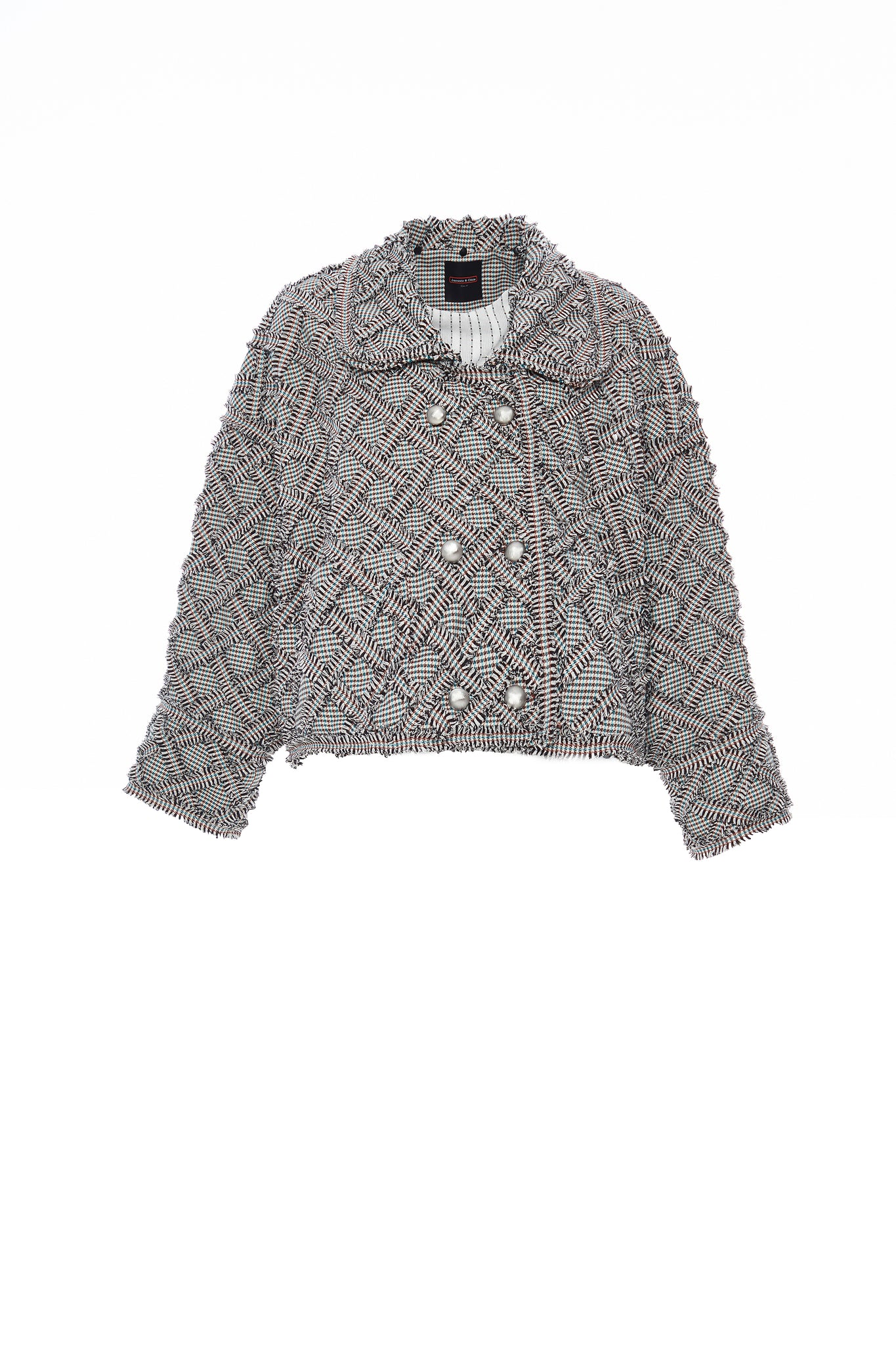 Detachable Faux Fur Collar Handwoven Quilt Jacket