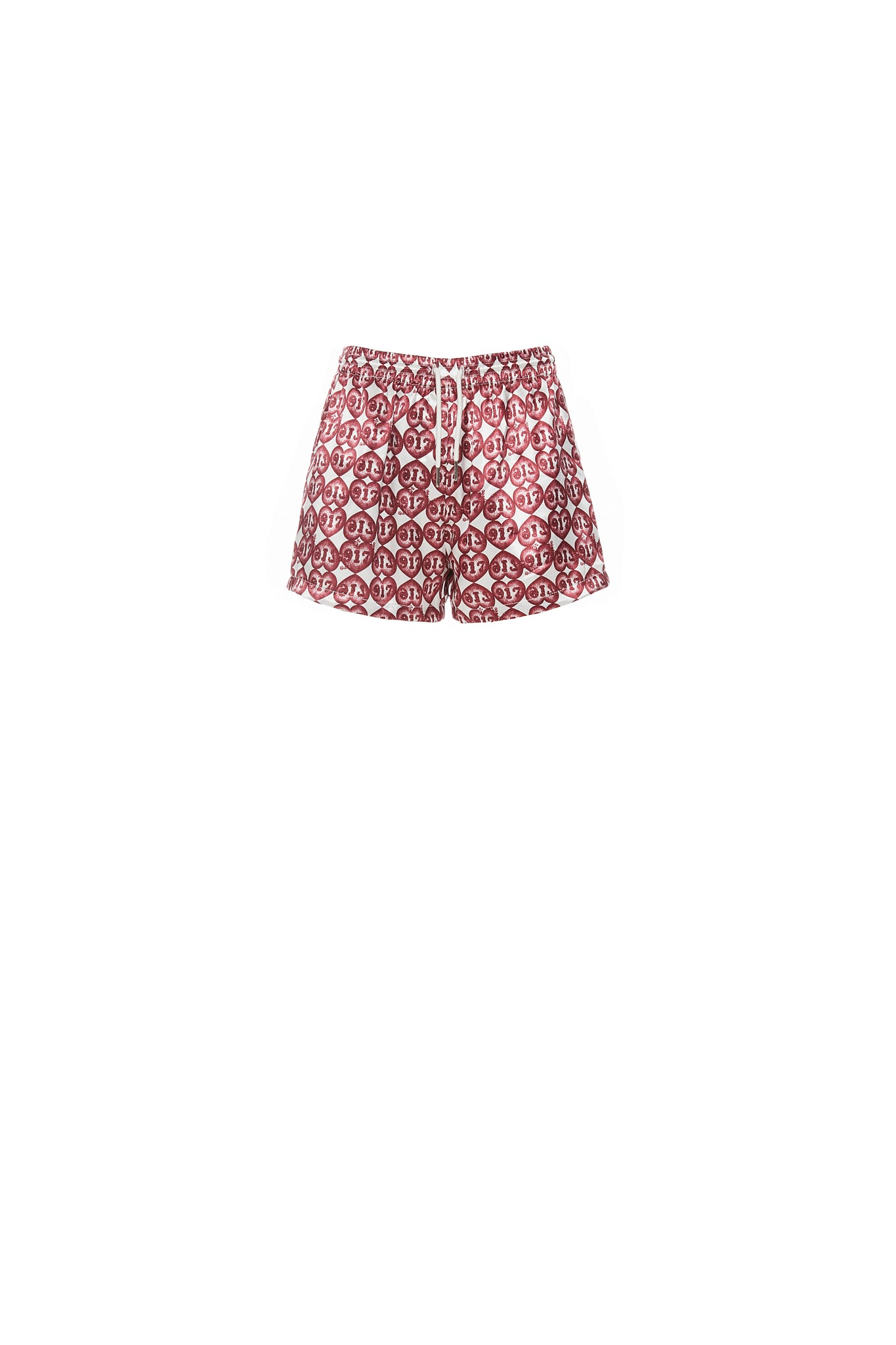 Shorts, 917 Heart Print, Red