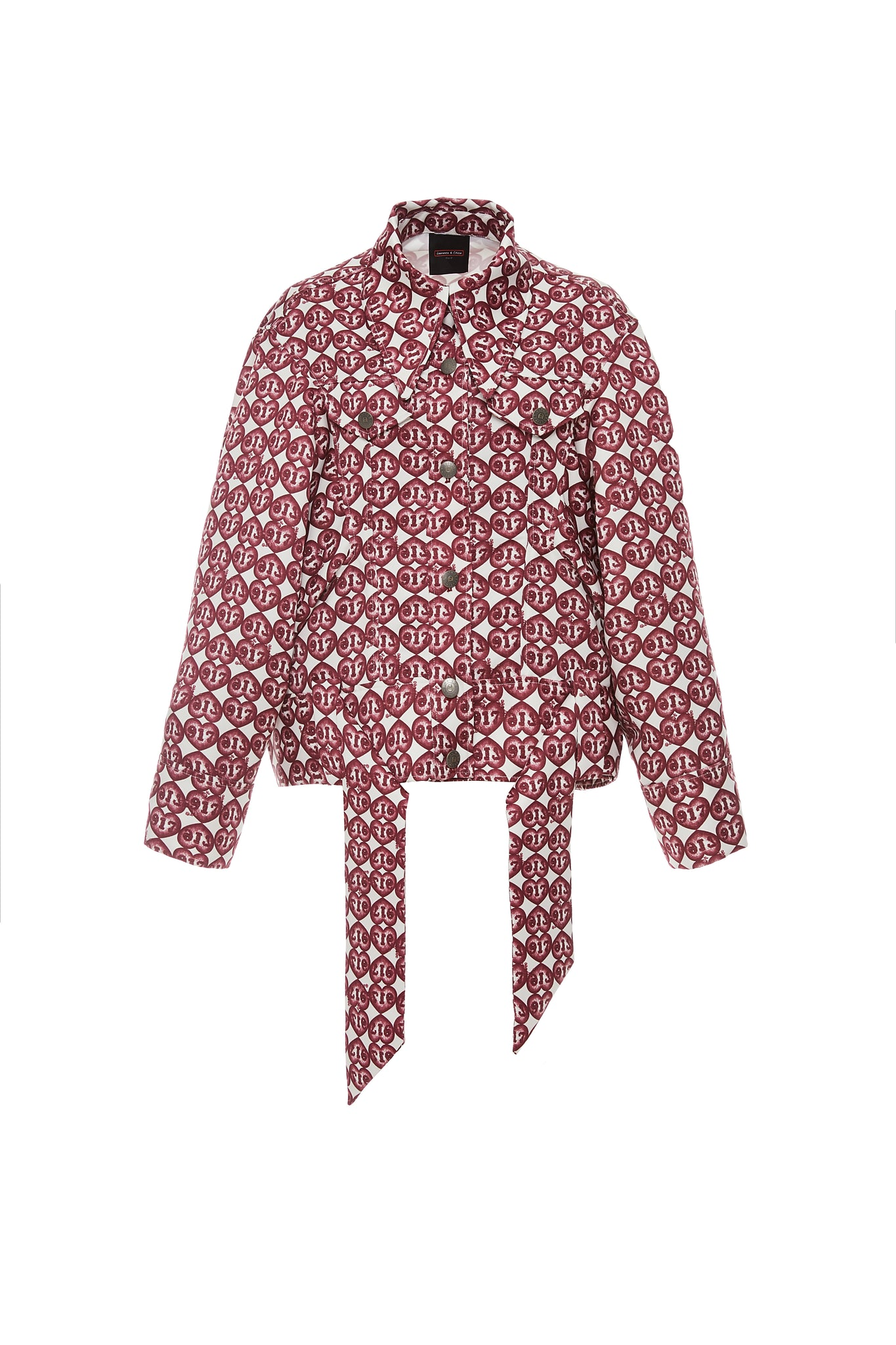 Oversized Jacket, 917 Heart Print, Red