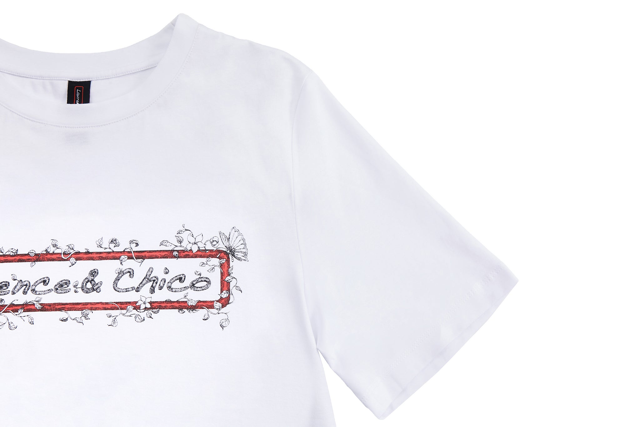 Laurence & Chico Logo Floral Frame Tee