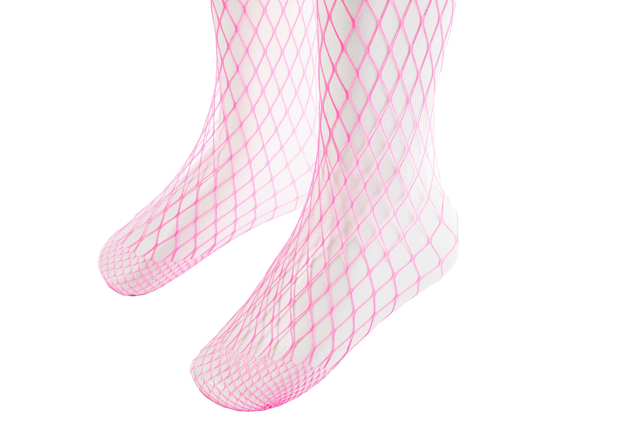 Fishnet Tights, Neon Pink